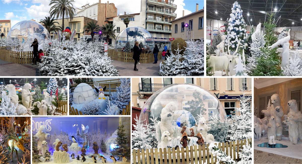 Bulle de Noël, Décoration évènementiel, scénographie de Noël, bulle cristal, bulle gonflable