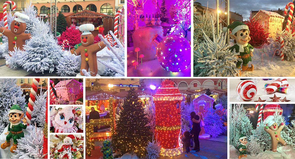 Décoration géante pain d'épice friandise, personnage en résine, cupcake géant, décoration de noël en résine pour marché de Noël